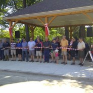 Ribbon cutting for the rebuilt Queens Park Bandshell